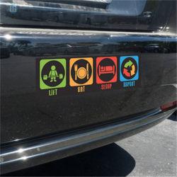 Os fãs de basquete de PVC impermeável decoração Individuação Adesivo do carro