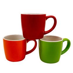تصميمات الطباعة بالألوان والملصقة المخصصة السيراميك الملون على شكل بلوني فنجان قهوة