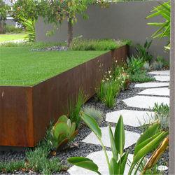 Jardín de acero corten oxidado/canto maceteros