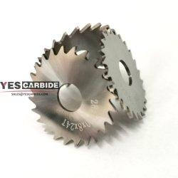 円の超硬合金は金属の切断の製粉については鋸歯を