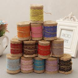 Materiali di tela all'ingrosso della decorazione di natale del mestiere del merletto del nastro DIY della tela da imballaggio