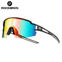 Vetri polarizzati fotocromici di sport di Rockbros che ciclano gli occhiali da sole di riciclaggio MTB di Eyewear della bici della bicicletta della bicicletta di pesca di vetro di guida
