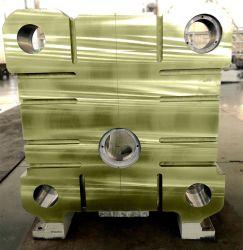 固定プラテンはのためのダイカストおよび射出成形機械か機械部品または装置の部品または産業設備およびコンポーネントまたはダイカストで形造る機械を
