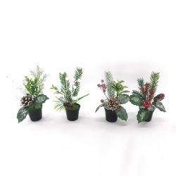 Gesimuleerde Green Bonsai set met Pots Fake Flower Garden Ornaments