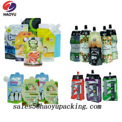 Water Juice Milk Beverage를 위한 Spout Pouch Alumium Foil Gusset Bag 높은 쪽으로 음식 Packaging Bag Stand
