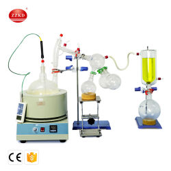 5000ml de corto recorrido del equipo de destilación de materia vegetal Thc un agitador magnético manto calefacción