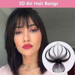 人間の毛髪のViviabellaクリップは強打する3D毛の上層または毛のフリンジ(3Dのハンドメイド、自然な黒)のクリップ式の強打の上層の実質の毛の空気強打の一つクリップを