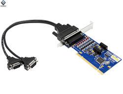 PCI 2 Hochgeschwindigkeitsseriendem adapter zur Kanal-RS-485/422 mit Lokalisierung Ut-732I