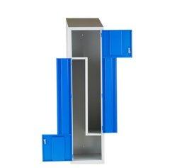 Un design moderne 2 Forme de l'acier porte mobilier scolaire Locker