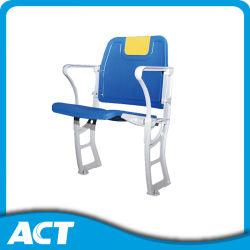 アルミニウムフレームの競技場のシートが付いている打撃によって形成されるプラスチック折りたたみ椅子