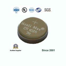 Henli maximale Tasten-Zellen-Münzen-Batterie des Lithium-Cr1025 Primär3v