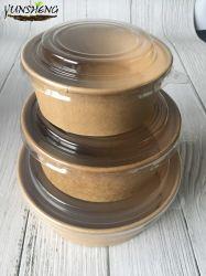 China Fabricante de Papel Kraft descartáveis personalizados taças para batatas fritas Foods /Salada tigela de sopa quente /com tampa