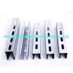 細長い細長かった穴HDG/Pre-Galvanized/Spray/Customizedが付いている41X62mmの支柱チャネルタイプC、