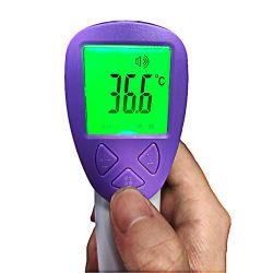 非接触の体温の額の熱の医学のデジタル赤外線温度計
