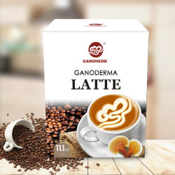 Latte koffie met Ganoderma Lucidum (1 doos van 21 g, 15 Sachets)