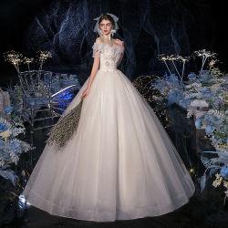 [مرميد] شريط [أبّليقو] أنيق مثيرة عرس يد زفافيّ ثقيل ثياب زفافيّ