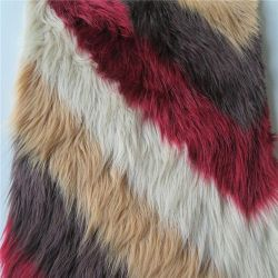 A impressão de malhas de poliéster de alta pilha de peles com pêlo falso tecido macio tecido peles falsas