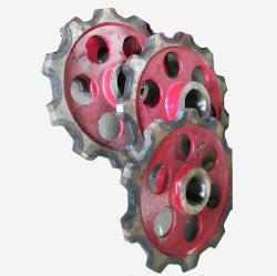 중국 산업에서의 고강도 및 고내마모성 컨베이어 체인 코팅 생산 라인 스프로킷 휠