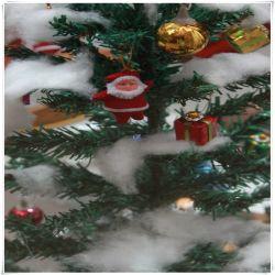 Polyfill pelusa de nieve artificial decoración navideña para la venta