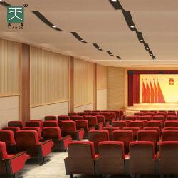 Tiange MDF decoración de madera con ranuras de aislamiento acústico techo de absorción acústica Y el Panel de pared acústica del estadio