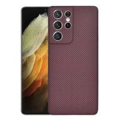 Hoes voor mobiele telefoon, Aramid-glasvezeltas voor Samsung S21 Ultra Beschermkap