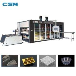 máquina de termoformação Multi-Station plástico totalmente automático para Caixa de fast food descartáveis