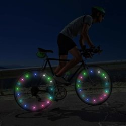 Светодиод велосипедных колес предупреждение системы безопасности шины газа лампа для детей в возрасте от верховой езды в ночное время