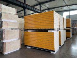 Aislamiento de espuma de poliuretano PU/SIP paneles sándwich de PIR para almacén o casa prefabricada/Shed/congelador