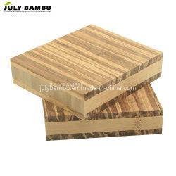 Tigre 3 capas de madera contrachapada de bambú Strand Strand tejida de madera para el bambú encimeras