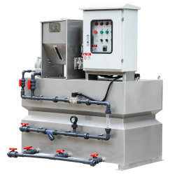 Sistema de Dosagem de Químicos como polímeros de tratamento de águas residuais urbanas e industriais