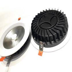LED Downlight ronde de logement du couvercle du carter de la lampe en aluminium