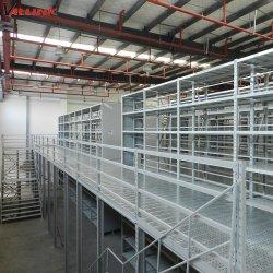 Склад для тяжелого режима работы с полки стеллажа системы стали Mezzanine для установки в стойку для хранения