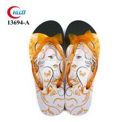 PVC Impresión personalizada sandalias zapatillas zapatos de boda de la correa de jalea de diapositivas de la Playa Chica Chanclas Fabricantes