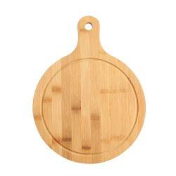 Bambu Madeira Natural Round tabuleiro de servir tabuleiro de comida