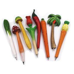 Penna di verdure della cancelleria del gel della resina di Kawaii della penna di personalità dell'acqua di simulazione creativa a forma di di verdure della penna
