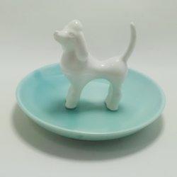 Promoción Dehua Abalorio cerámica plato de joyas de la bandeja de regalo para la decoración artesanal