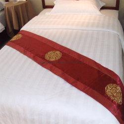 50% de algodão 50% poliéster Hotel roupa de cama com listras