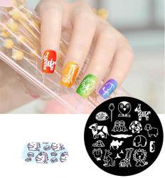 2020 DIY Nail Art Diseño belleza de la placa de la uña de estampación