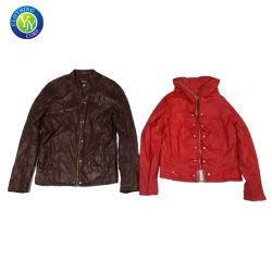 Бесплатно использовать одежду второй стороны одежды для рулона одежду для продажи куртка из натуральной кожи