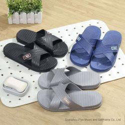 Ocio de moda para hombres zapatillas de casa nuevo cuarto de baño Non-Slip resistente al desgaste de la playa de calidad para hombres zapatillas (XBX-6865)