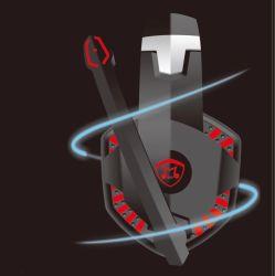 Kabelgebundene Computer-Game-Kopfhörer, Surround-Sound-Game-Kopfhörer mit Noise Cancelling-Mikrofonen