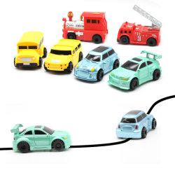 유도적인 트럭 아이들 트레인 철도 장난감 차 끌기는 감응작용 궤도 망치 SUV 차를 일렬로 세운다
