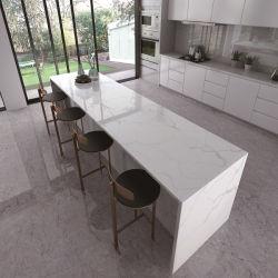 Controsoffitti di marmo bianchi del quarzo della cucina di sguardo del fornitore cinese del campione libero del ODM dell'OEM
