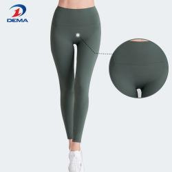 높은 허리 적당 타이츠 바지 요가 각반 스포츠 착용