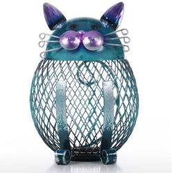 Tooarts Cat медали окно имеет ступенчатую конструкцию банк животных орнамент творческих орнамент утюг искусства орнамента тачки интерьера