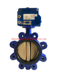 Espolón operado eléctricamente concéntrico de tipo de válvula de mariposa con on/off actuador eléctrico