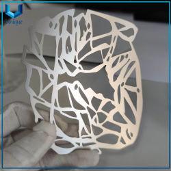 Progettare la scheda per il cliente di alluminio del metallo spazzolata ritaglio di lusso unico di modo di figura, ornamento dell'argento dell'acciaio inossidabile per i regali del ricordo