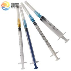 Siringa orale di plastica dell'iniezione sterile a gettare medica del CE, siringa dell'insulina, sicurezza 0.5ml monouso 1ml 2ml 2.5ml 3ml 5ml 10 con/senza della siringa di cc aghi