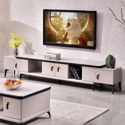 Sala de Estar da moda vidro oco Superior Design de Armazenamento Extensível Suporte de TV em madeira moderno mobiliário da unidade de TV