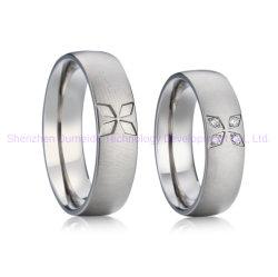 Casamento anel de diamantes Anel de cobre os homens de prata do Anel